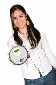 girl with a discman