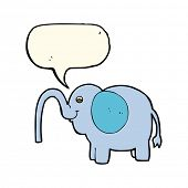 stock photo of squirting  - cartoon elephant squirting water with speech bubble - JPG