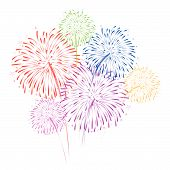 foto of firework display  - vector Firework Display for new year and all party - JPG