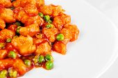 stock photo of malaysian food  - delicious chinese food on plate close up - JPG