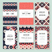pic of valentine card  - Set of perfect vector card templates - JPG