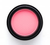 stock photo of blush  - Cosmetic blush or make up powder isolated on white background - JPG