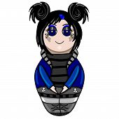 picture of wiccan  - The isolated nested doll the goth drawn by hand - JPG