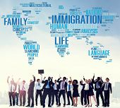stock photo of citizenship  - Immigration International Government Law Customs Concept - JPG