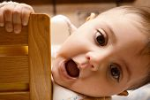 pic of baby doll  - baby play with mom hug at home - JPG