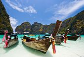 Long Tails Boat at Maya bay PhiPhi Island