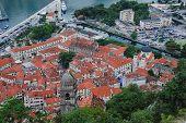 pic of nicholas  - Aerial view of old medieval town Kotor Montenegro - JPG