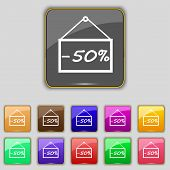stock photo of 50s  - 50 discount icon sign - JPG