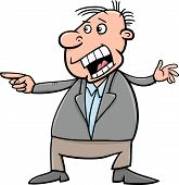 image of outrageous  - Cartoon Vector Illustration of Outraged Shouting Man - JPG