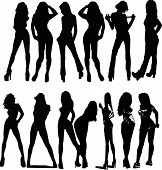 Beautyful Girls - Silhouette  Illustration
