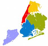Five Boroughs Of Nyc. poster