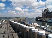 Old Picturesque Dutch Historical Port In Veere, Zeeland.