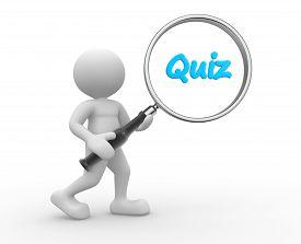 stock photo of quiz  - 3d people  - JPG