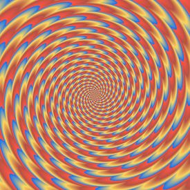 picture of hypnotic  - Colorful abstract hypnotic colorful tunnel  - JPG