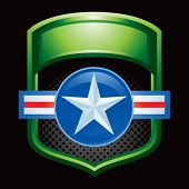 air force icon in green display