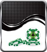 silver and black stacked casino chips template