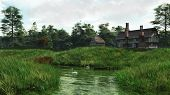 Half-Timbered Lakeside Manor House