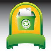 recycle bin in green display