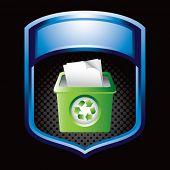 recycle bin in blue display