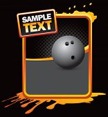 bowling ball on grunge style splat background