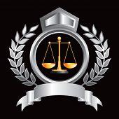 justice scales silver royal display