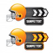 football helmet white and gold arrow nameplates