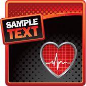 Herzschlag rot und schwarz-Halbton-Anzeige
