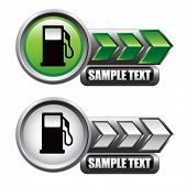 gas pump icon green and white arrow nameplates