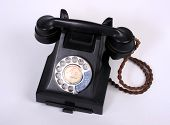 picture of bakelite  - An old 1950s bakelite telephone with handset - JPG