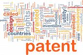 Background concept wordcloud illustration of patent