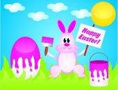 Easter Rabbit Painting Egg