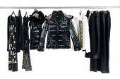 Fashion clothes rack display