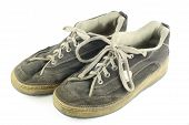 Pair Of Worn Dirty Shoes