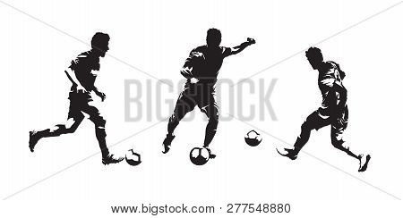 Group Of Soccer Players Isolated