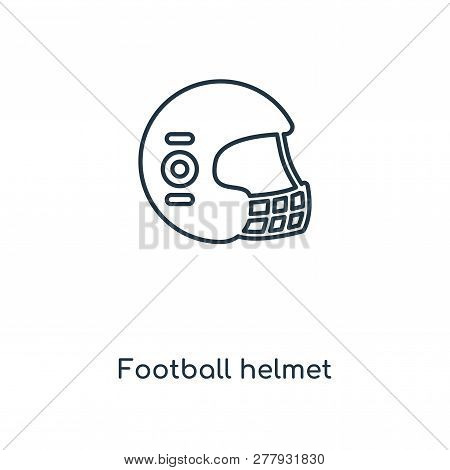 Football Helmet Icon In Trendy