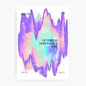Princess Cover. Kawaii Rainbow Hologram. Holographic Unicorn Gradient. Vibrant Universe Banner. Fant poster