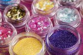 Crushed shiny makeup brocade