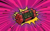 Dynamite Explosion, Bomb Detonation. Retro Pop Art Style. Cartoon Comic Vector Illustration poster