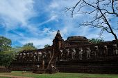 Wat Chang Rop Temple Historical Park In Kamphaeng Phet, Thailand (a Part Of The Unesco World Heritag poster