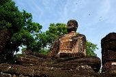Buddha Statues Historical Park In Kamphaeng Phet, Thailand (a Part Of The Unesco World Heritage Site poster