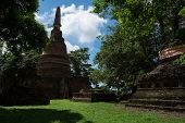 Wat Nong Langka Historical Park In Nakhon Chum Kamphaeng Phet, Thailand (a Part Of The Unesco World poster