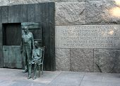 Statues At The Fdr Memorial