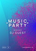 Trance Event. Minimal Concert Banner Concept. Dynamic Gradient Shape And Line. Neon Trance Event Fly poster
