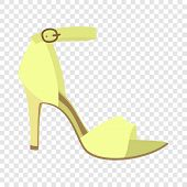 Woman Sandal Icon. Flat Illustration Of Woman Sandal Icon For Web Design poster