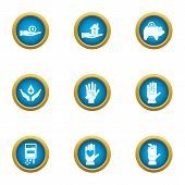 Contribution Icons Set. Flat Set Of 9 Contribution Icons For Web Isolated On White Background poster