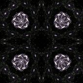 Abstract Symmetric Pattern Background. The Image With Mirror Effect. Kaleidoscopic Abstract Psychede poster