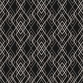 Vector Geometric Lines Pattern. Subtle Geometric Seamless Texture With Grid, Diamonds, Rhombuses, Th poster