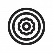 Configuration Wheel Vector Icon On White Background. Configuration Wheel Icon In Modern Design Style poster