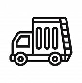Recycling Truck Icon Isolated On White Background. Recycling Truck Icon In Trendy Design Style. Recy poster