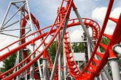 picture of puke  - painted and cuved metal of rollercoaster - JPG